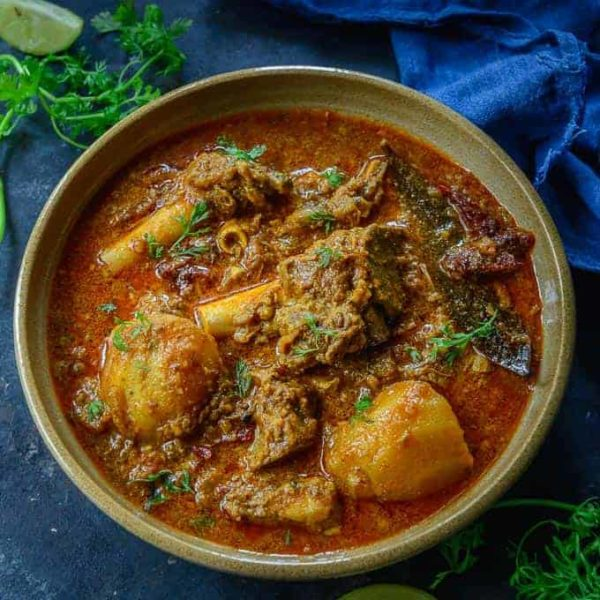 A delicious homemade mutton curry