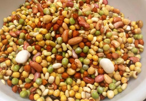Soaked kwati beans